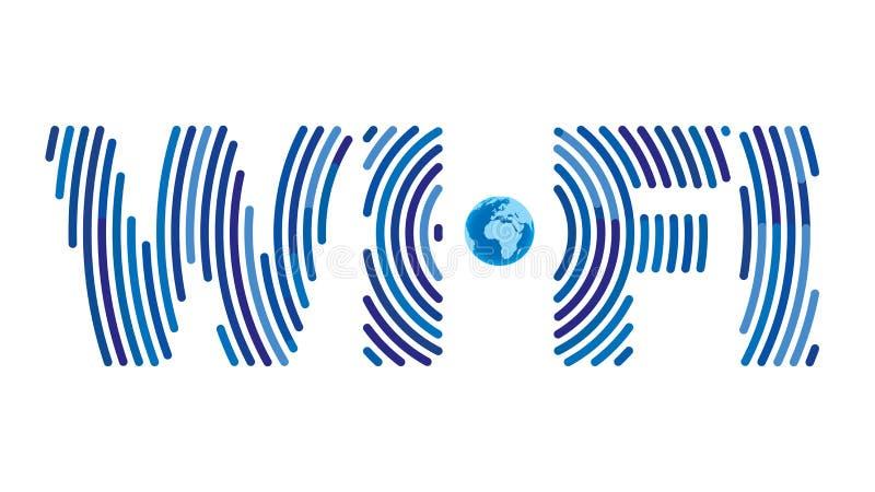 Concept de signe de Wifi illustration stock