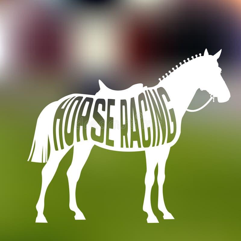 Concept de silhouette de cheval d'emballage avec le texte illustration stock
