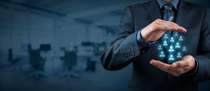 Concept de soin de client ou d'employés photographie stock