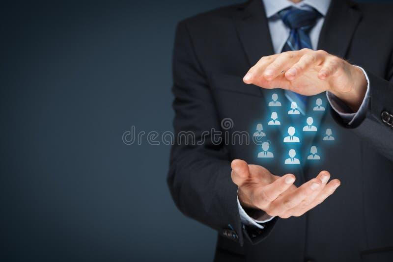 Concept de soin de client ou d'employés photos libres de droits