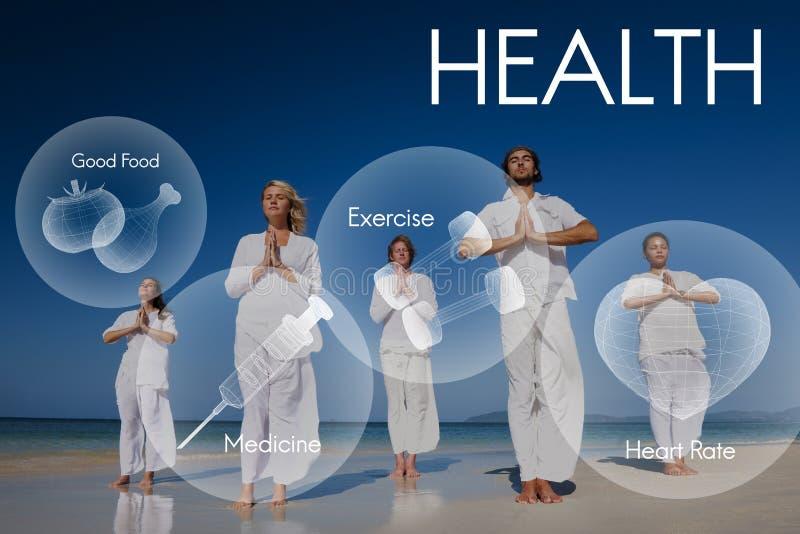 Concept de soins de santé de vitalité de bien-être de bien-être de santé image libre de droits
