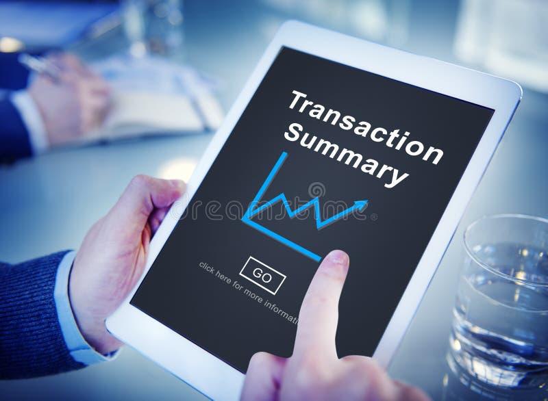 Concept de solde de budget récapitulatif de transaction photo libre de droits