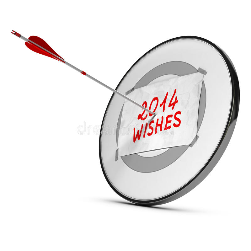 Concept de 2014 souhaits de nouvelle année illustration stock