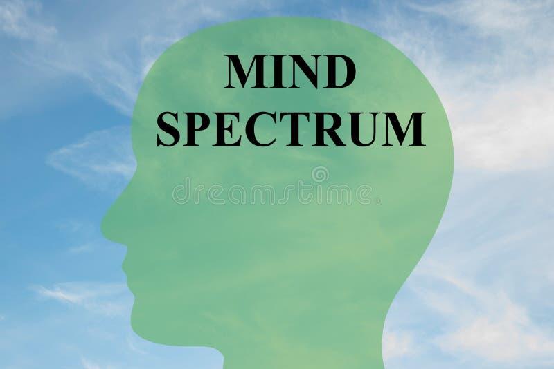 Concept de spectre d'esprit illustration de vecteur