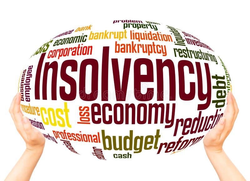 Concept de sphère de nuage de mot d'insolvabilité illustration stock
