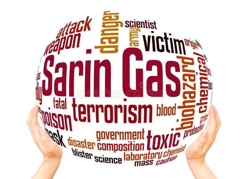 Concept de sphère de nuage de mot de neurotoxique de Sarin images libres de droits