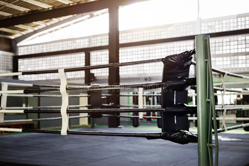 Concept de sport de Ring Arena Stadium Fighting Competitive de boxe photos libres de droits