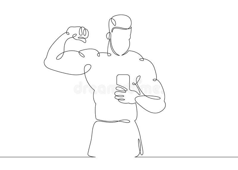 Concept de sports de bodybuilder de gymnase illustration libre de droits