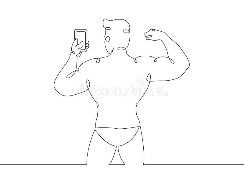 Concept de sports de bodybuilder de gymnase illustration de vecteur