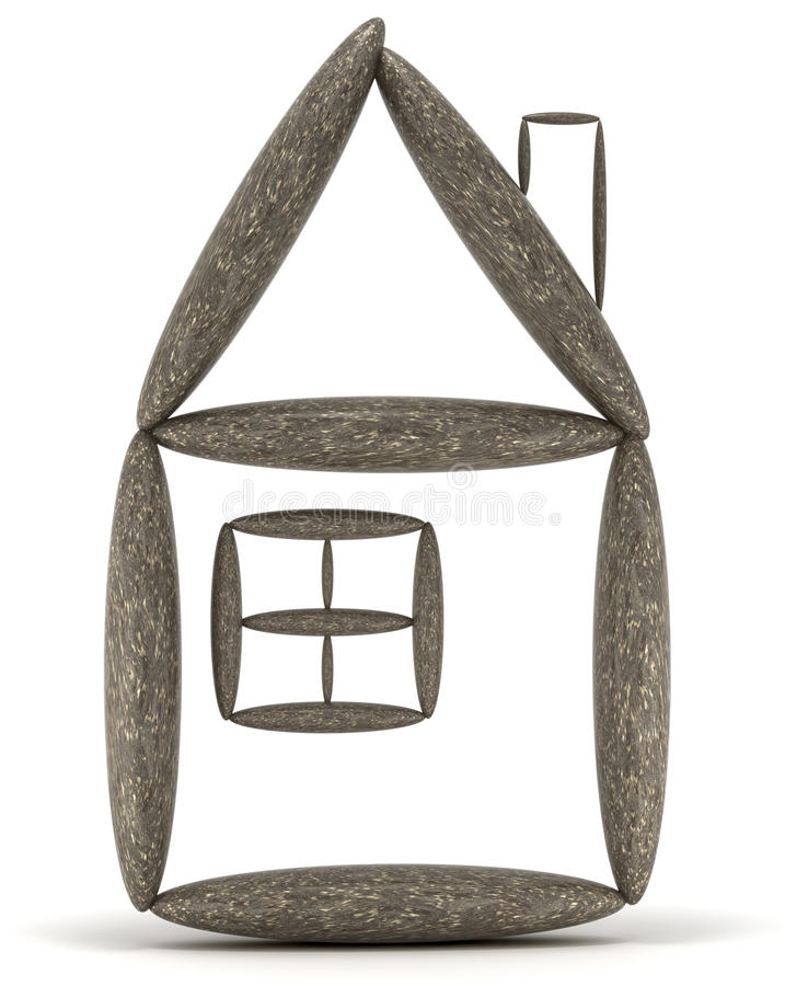 Concept de stabilité de maison et d'habitation illustration libre de droits