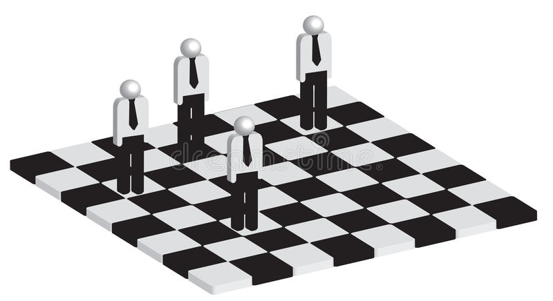 Concept de stratégie commerciale illustration libre de droits