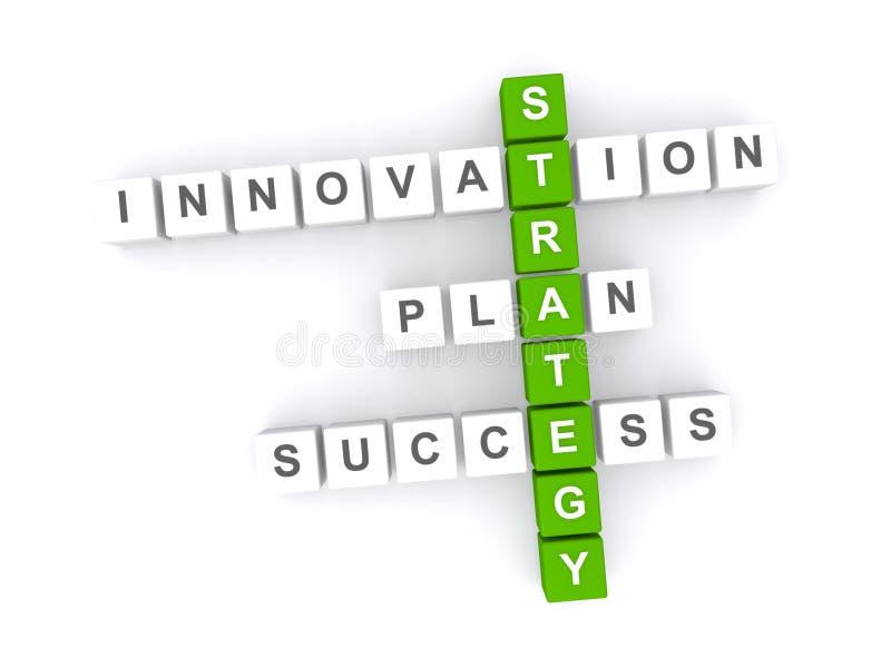Concept de stratégie commerciale illustration stock