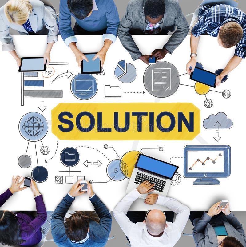 Concept de stratégie d'idées de résolution des problèmes de solution images stock