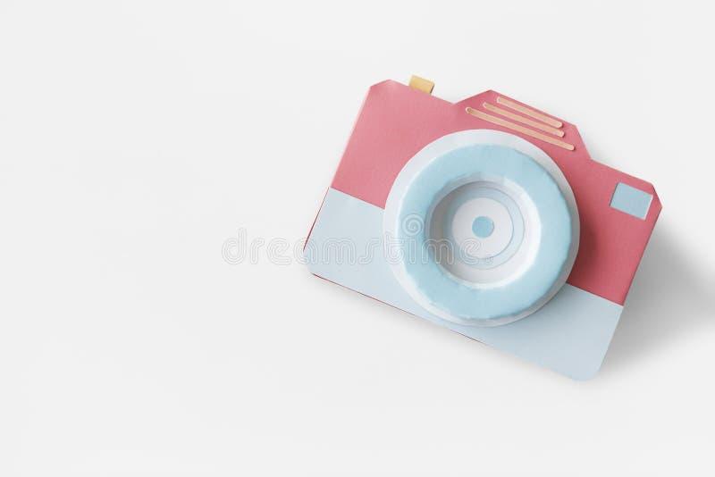 Concept de studio d'instrument de photographie de volet d'objectif de caméra images libres de droits