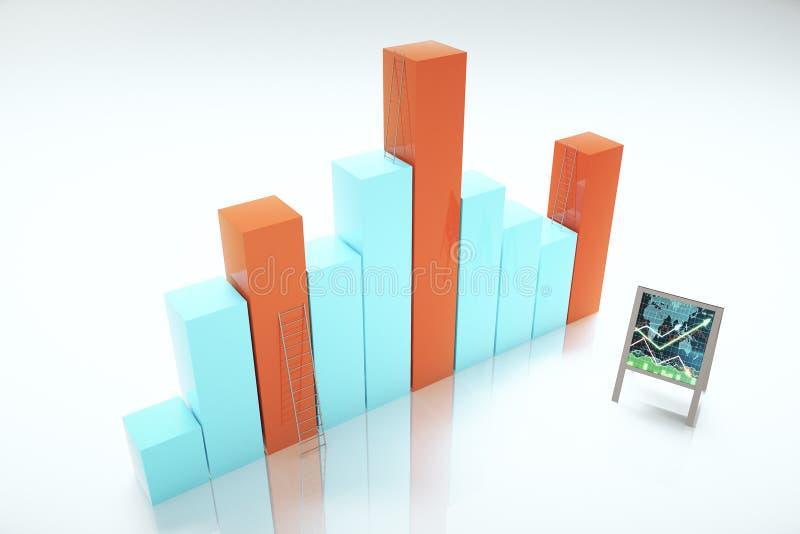 Concept de succès avec des graphiques de gestion illustration stock