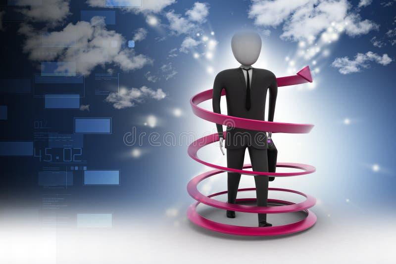concept de succès commercial de l'homme 3d illustration de vecteur