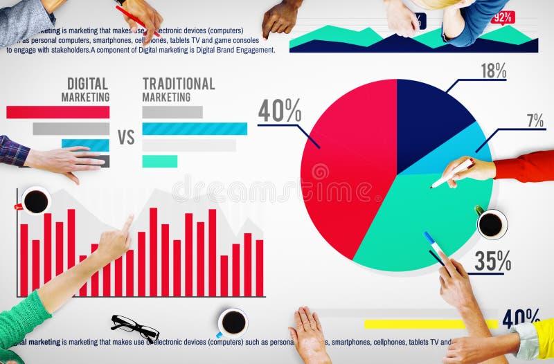 Concept de succès de croissance de stratégie de planification du marché de Digital illustration libre de droits
