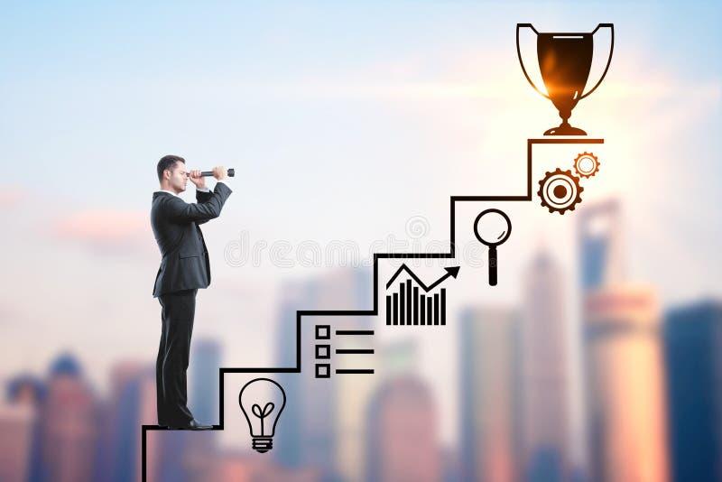 Concept de succès et de recherches image libre de droits