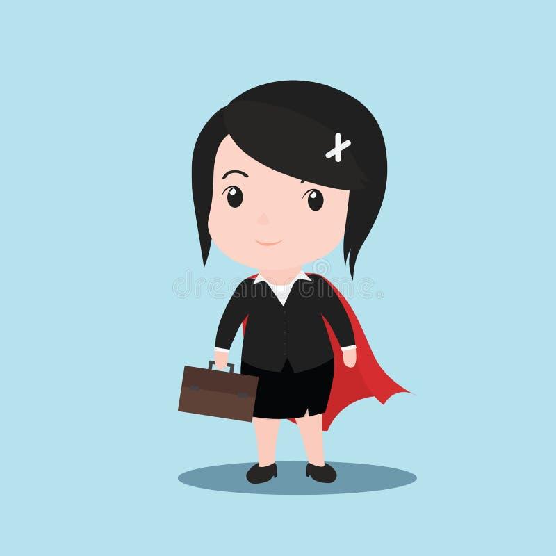 Concept de super héros de femmes d'affaires, vecteur de bande dessinée illustration stock