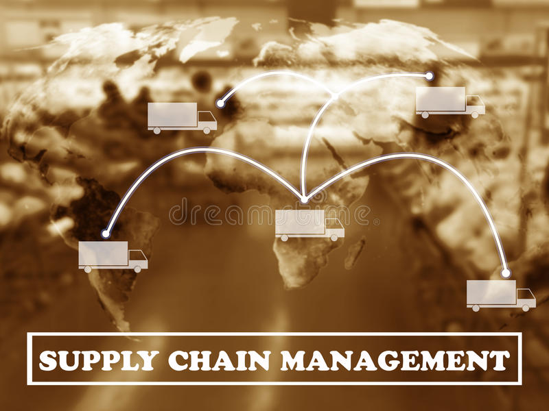 Concept de supply chain management image libre de droits