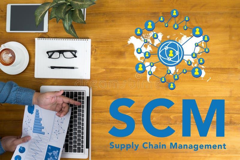 Concept de supply chain management de SCM photographie stock