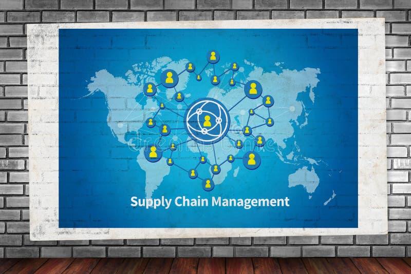 Concept de supply chain management de SCM photos libres de droits