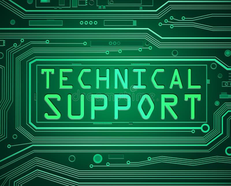 Concept de support technique illustration stock