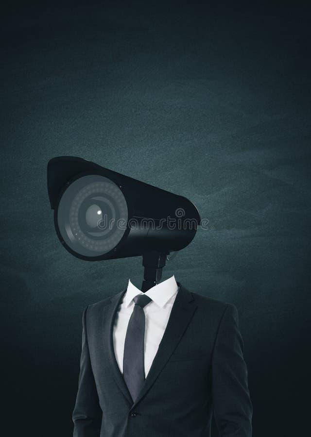 Concept de surveillance et de moniteur photos stock