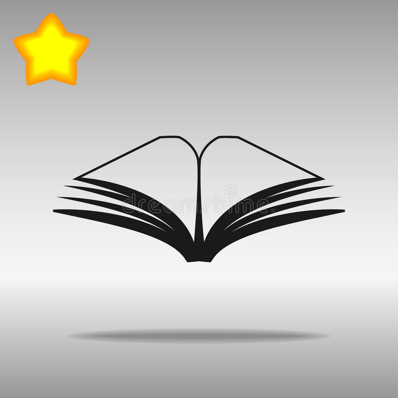 Concept de symbole de logo de bouton d'icône de livre noir de haute qualité image libre de droits