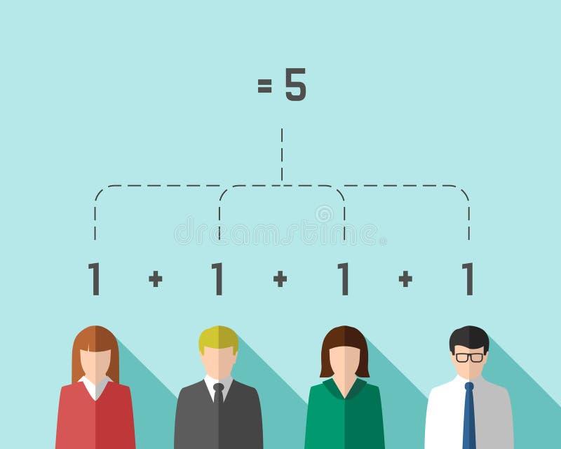 Concept de synergie avec le groupe de l'équipe d'affaires illustration stock
