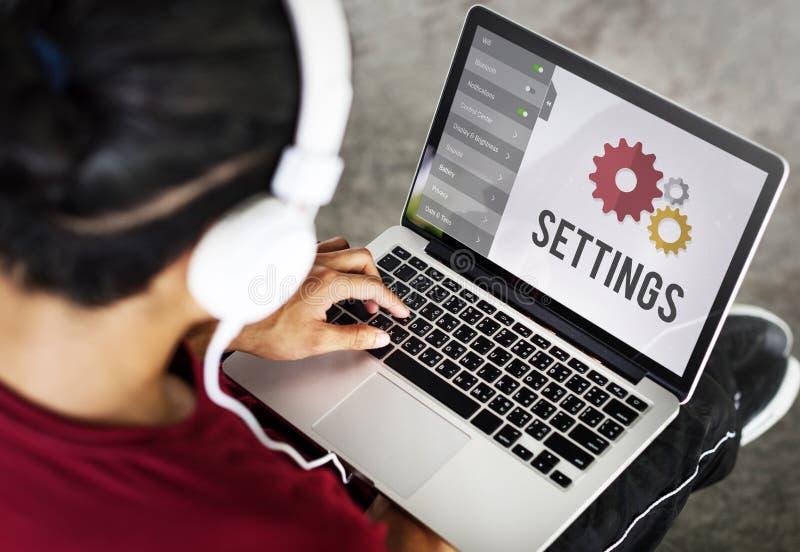 Concept de système d'installation d'outils d'arrangements images stock