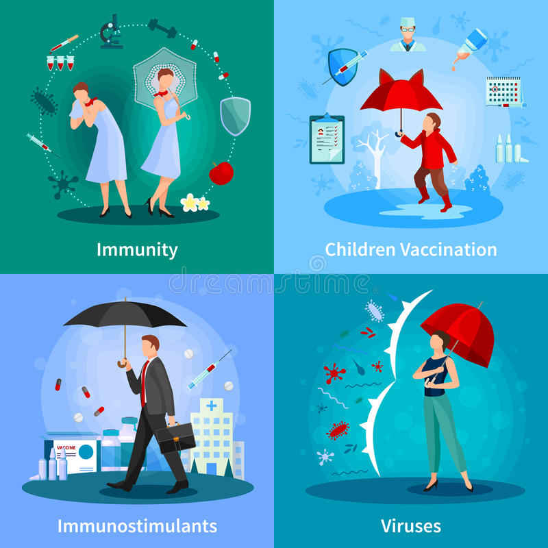 Concept de système immunitaire illustration de vecteur