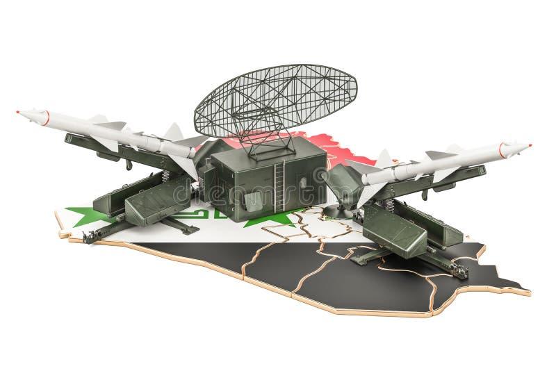 Concept de système iranien de la défense de missile, rendu 3D illustration de vecteur