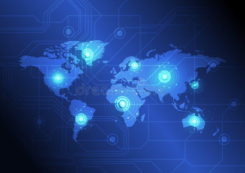 Concept de télécommunication mondiale illustration stock