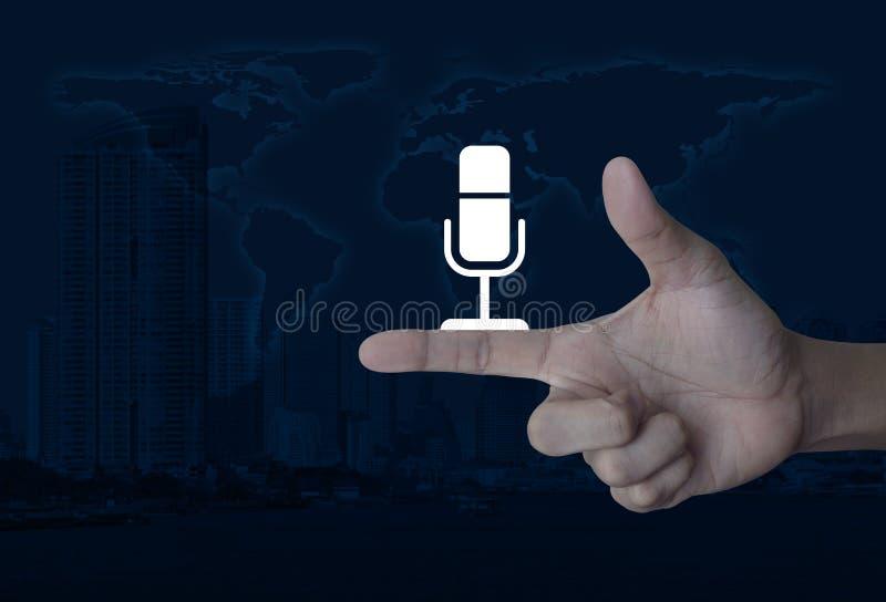 Concept de télécommunication mondiale d'affaires, éléments de ce fu d'image photo stock