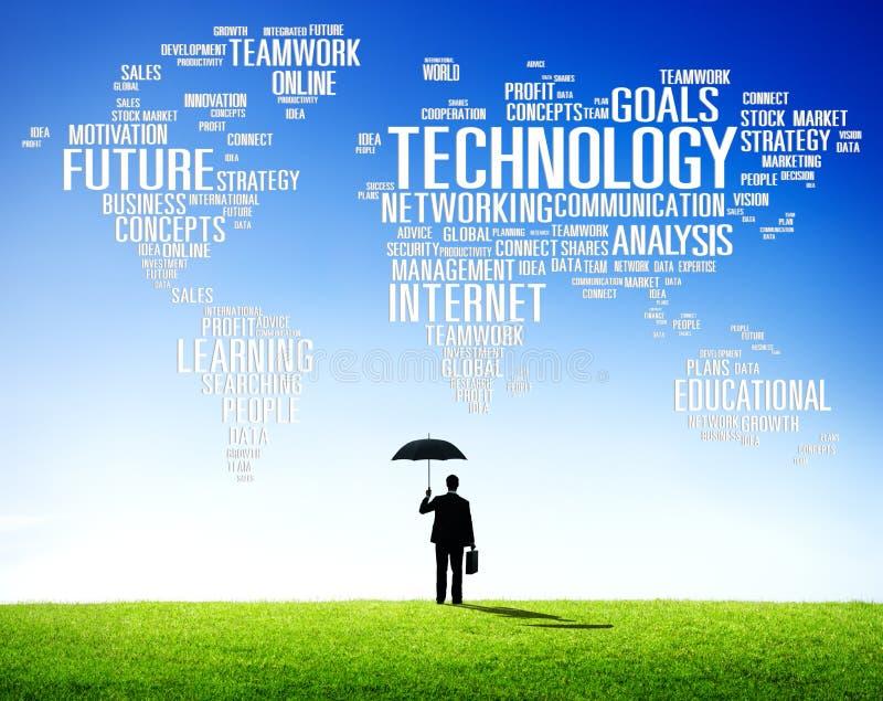 Concept de télécommunication mondiale de connexion de mise en réseau de technologie images libres de droits