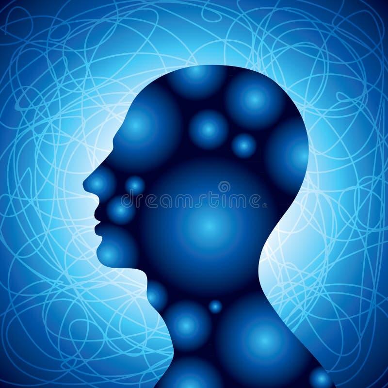 Concept de tête humaine illustration de vecteur