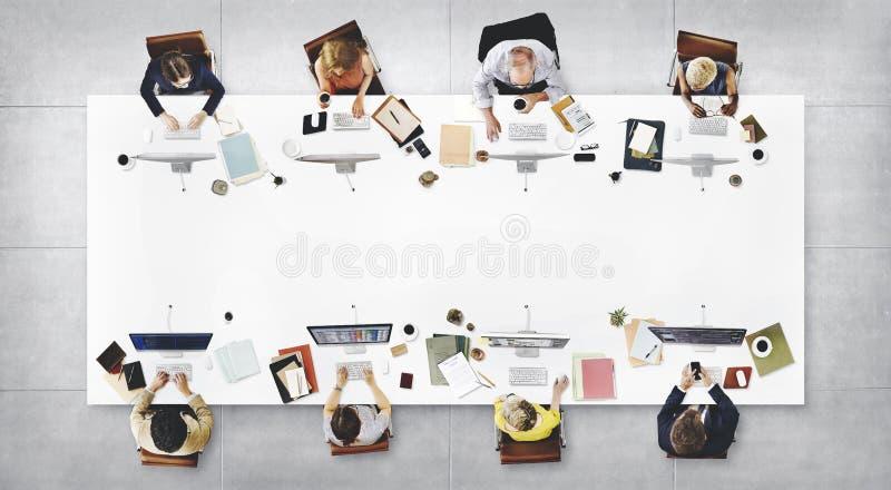 Concept de Team Meeting Connection Digital Technology d'affaires photographie stock libre de droits