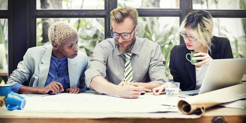 Concept de Team Teamwork Business Collaboration Meeting image stock