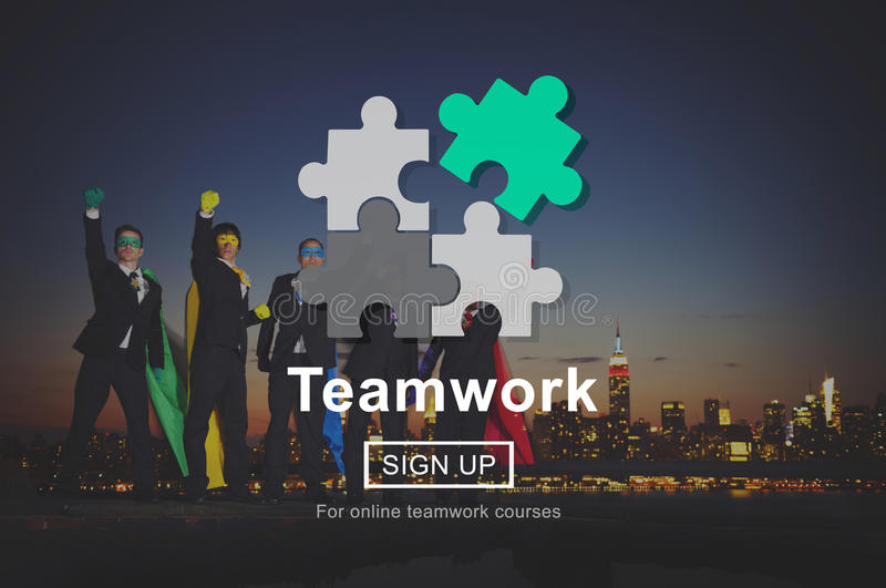 Concept de Team Teamwork Partnership Alliance Unity images stock