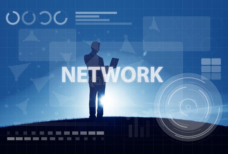 Concept de technologie de connexion de Digital de réseau informatique photo stock