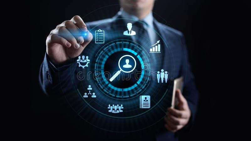 Concept de technologie d'affaires d'analytics de mesure d'évaluation d'évaluation photo stock