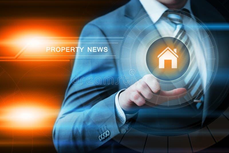 Concept de technologie d'affaires d'Internet de marché de l'immobilier de gestion de portefeuille de propriété image libre de droits