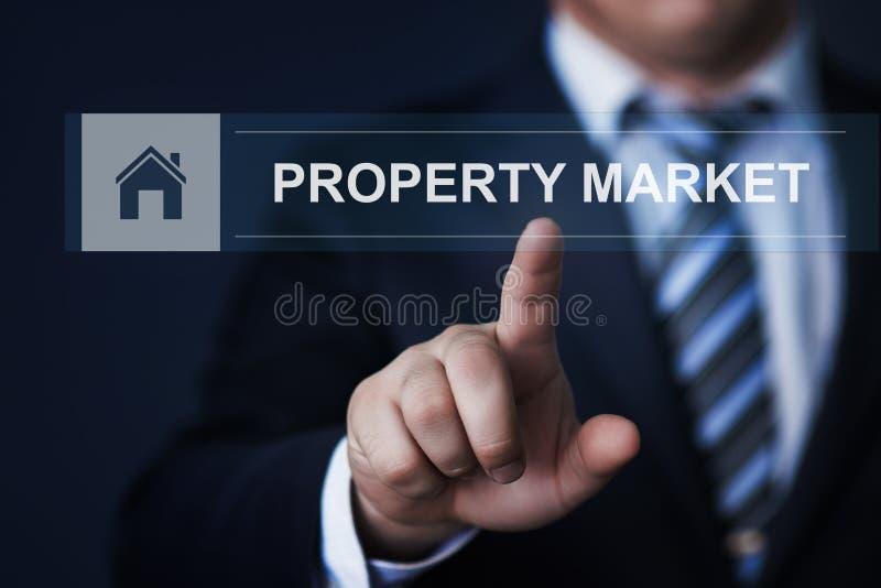 Concept de technologie d'affaires d'Internet de marché de l'immobilier de gestion de portefeuille de propriété images stock
