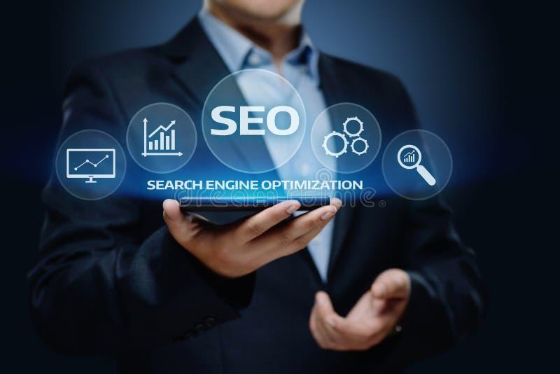 Concept de technologie d'affaires d'Internet de site Web du trafic de rang de SEO Search Engine Optimization Marketing photo libre de droits