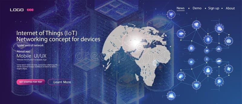 Concept de technologie d'innovation d'affaires Fond abstrait à la maison futé Fond de Web de technologie Concept illustration stock