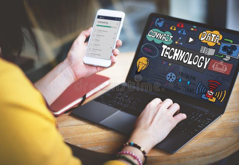 Concept de technologie d'innovation d'Internet de Digital de données de technologie photos stock