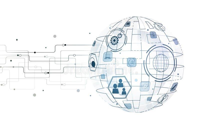 Concept de technologie, d'innovation et d'infograph illustration libre de droits