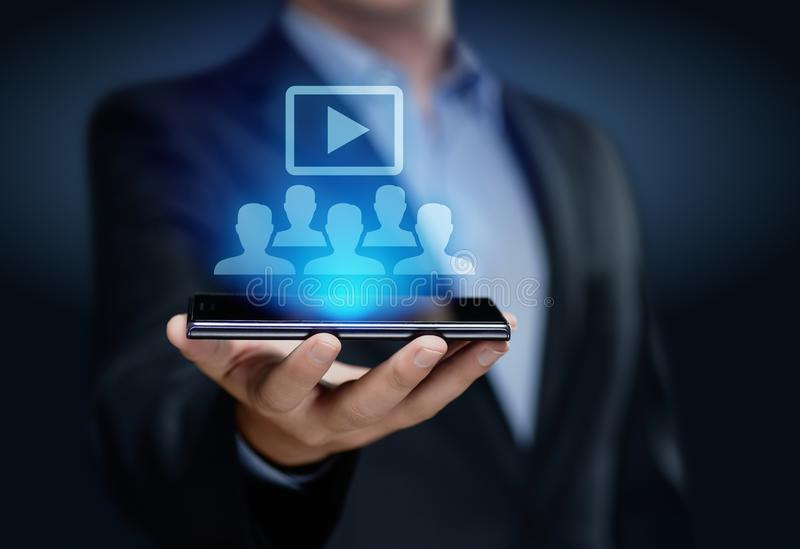 Concept de technologie d'Internet d'affaires de formation d'apprentissage en ligne de Webinar photos stock