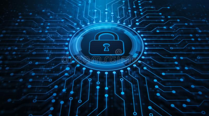 Concept de technologie d'Internet d'affaires d'intimit? de s?curit? de Cyber de protection des donn?es image stock